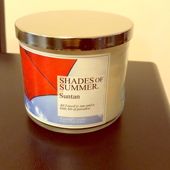 SUMMER SUNTAN Scented Large 3-Wick Candle Bath /& Body Works SHADES OF SUMMER